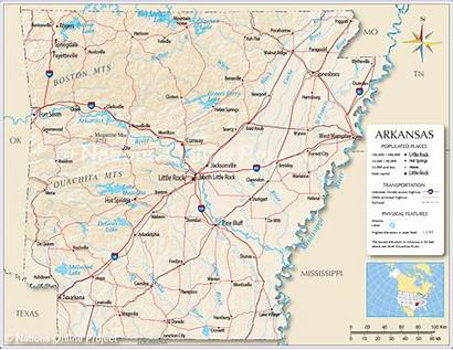 Arkansas Map State Usa Maps Reference Nations
