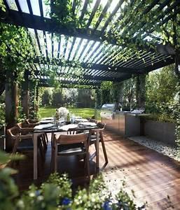 1001idees d39amenagement d39une cuisine d39ete exterieure With fontaine exterieure de jardin moderne 5 cuisine d ete exterieure design
