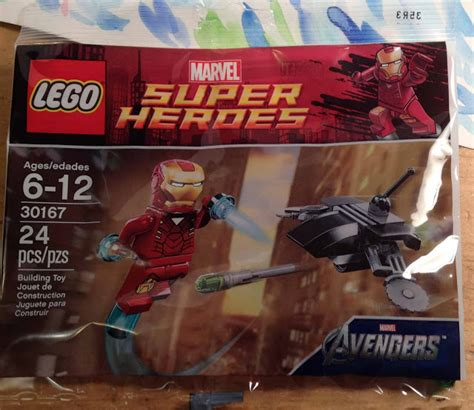 minifigure collector  iron man  fighting drone poly bag