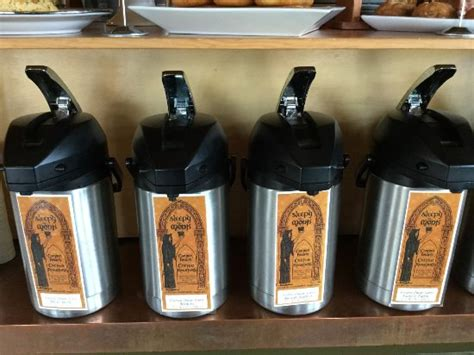 Pastries made fresh daily on site. Inside the Sleepy Monk. - Picture of Sleepy Monk Coffee ...