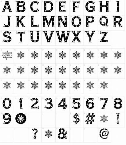 Font Letters Snowflake Fonts Characters Map Character