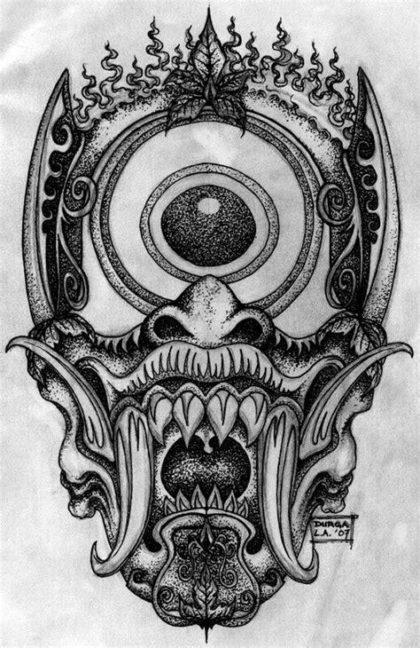 Stippled demon cyclops   Japanese demon tattoo, Demon