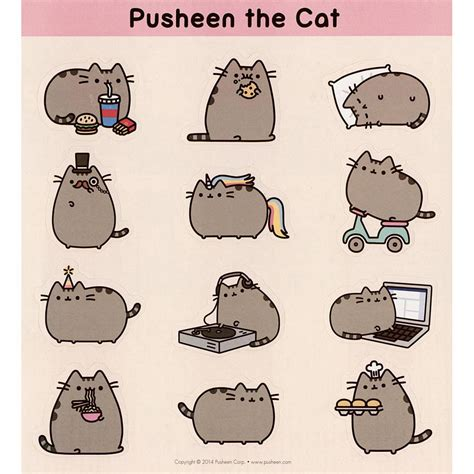 Pusheen The Cat 2015 Wall Calendar 9781449456054 Cat