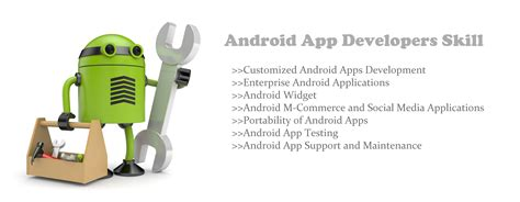 android application development skills and expertise required by an android developer in
