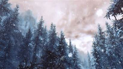 Snow Animated Winter Snowing Gifs Nature Snowy