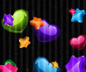 Free falling neon hearts & stars.gif phone wallpaper by ...