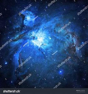 Blue Nebula Elements This Image Furnished Stock Photo ...