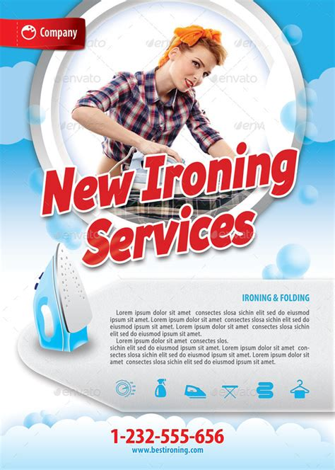 laundry services offer flyer template   min