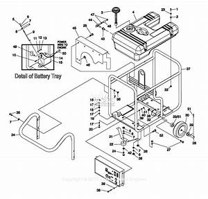 Generac 057340  Gp15000e  Parts Diagram For Handle Frame Wheel