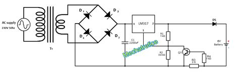 battery charger circuit  indicator  current