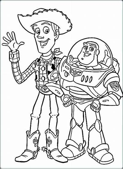 Woody Coloring Buzz Toy Story Pages Lightyear