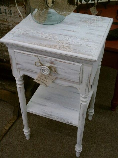white distressed end tables distressed side table using white ash by farmhouse paint 1289