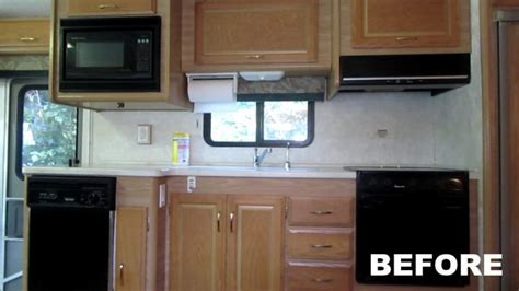 rv renovation painting rv cabinets updating cabinet hardware hudson  emily