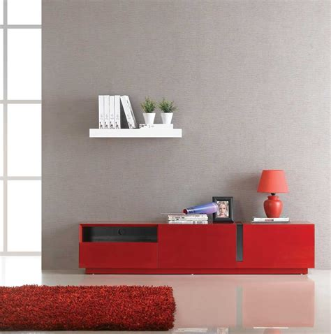 Tv027 Red High Gloss Tv Stand  J & M Furniture