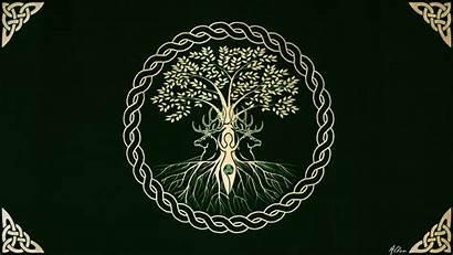 Wiccan Pentacle Pagan Wallpapers Tree Version Wallpaperplay