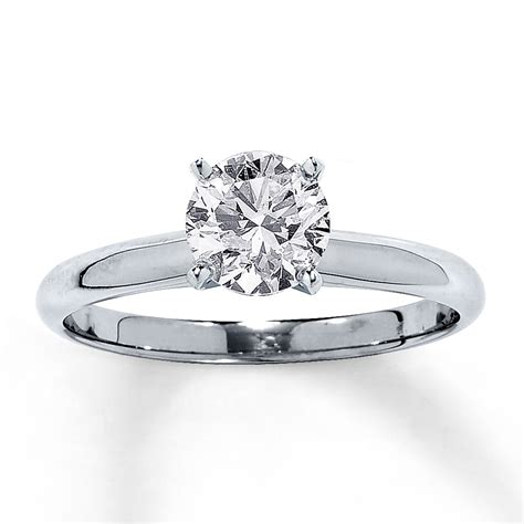 one carat engagement ring jared solitaire ring 1 carat cut 14k white gold
