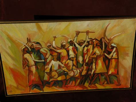 kaligrafi by furniture shop islamic 1970 signed omani painting of traditional