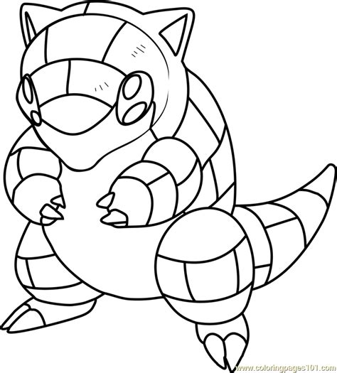 Coloring Pictures by Sandshrew Coloring Page Free Pok 233 Mon Coloring