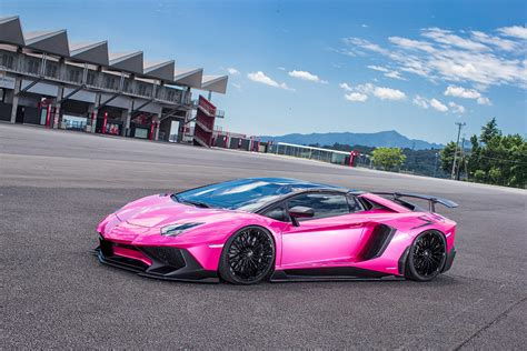 lamborghini aventador sv roadster liberty walk liberty walk lamborghini aventador sv is oh so pink carscoops