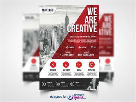 modern contemporary design modern business agency flyer psd template flyer psd