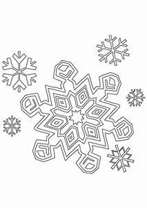 Flocon De Neige En Papier Facile Maternelle : coloriage hiver cristaux de neige ~ Melissatoandfro.com Idées de Décoration