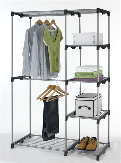 Closet Hangers by Closet Organizer Storage Rack Portable Clothes Hanger Home