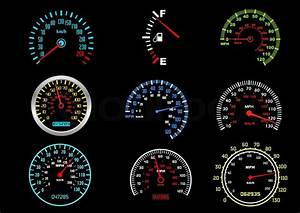 Set Of Car Speedometers For Racing Design