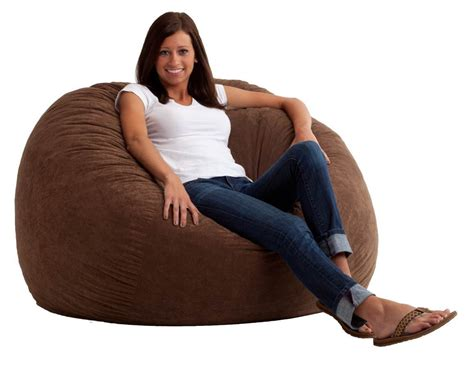 comfort research 4 large fuf bean bag chair in black onyx