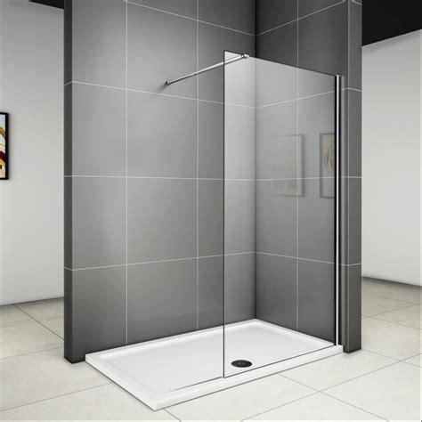 90 x 185 cm walk in dusche duschabtrennung duschwand glas duschkabine glaswand v ebay