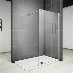 Dusche Ohne Duschtasse : 90 x 185 cm walk in dusche duschabtrennung duschwand glas duschkabine glaswand v ebay ~ Indierocktalk.com Haus und Dekorationen