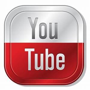 Youtube metallic button - Transparent PNG & SVG vector