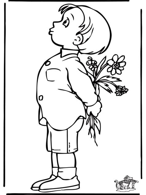 rapaz  flores criancas