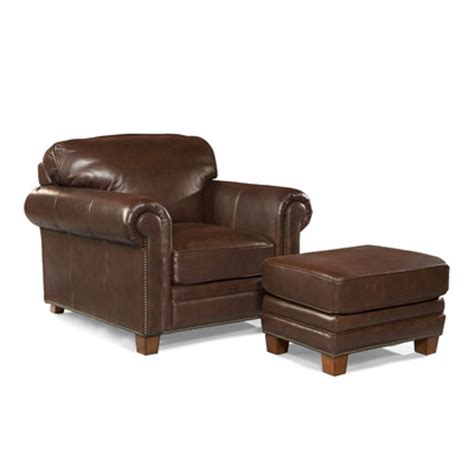 1 1 2 chair and ottoman hillsboro leather arm chair and ottoman wayfair