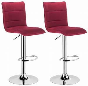 Chaise Bar Reglable : lot de 2 tabouret de bar avec poign e en pu tissu chaise cuisine r glable f008 ebay ~ Teatrodelosmanantiales.com Idées de Décoration