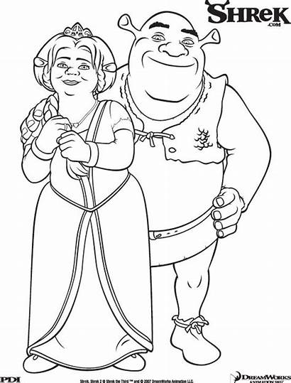 Shrek Coloring Pages Fiona Printable Princess Shrek3