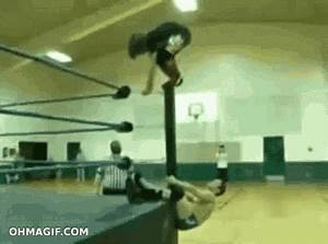 Epic wrestler backflip practice fail - Funny Gifs and ...