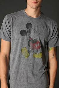 Lyst - Urban outfitters Classic Mickey Mouse Tee in Gray for Men