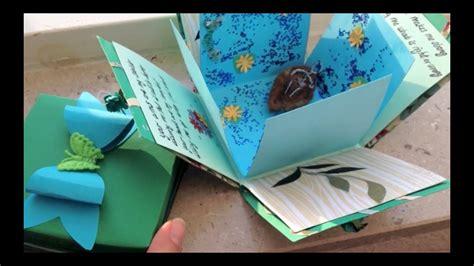 exploding box card  bow diy youtube