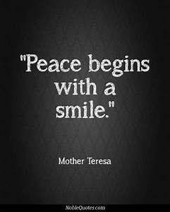 Peace Mother Te... Peace And Smile Quotes