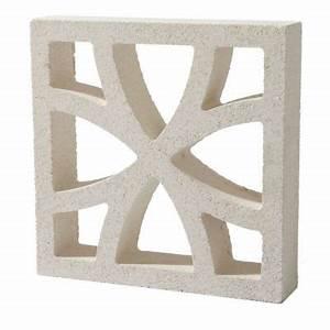 Claustra Beton Blanc : claustra ovalos 25 x 25 cm castorama ~ Melissatoandfro.com Idées de Décoration