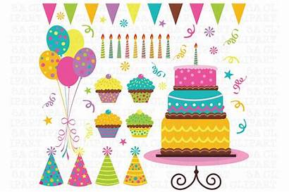 Birthday Party Clip Clipart Pixels Wide Creativemarket