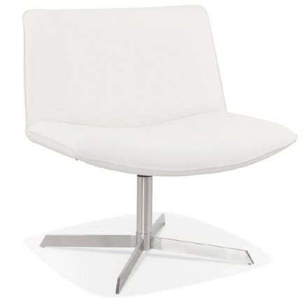 fauteuil design pivotant miranda blanc