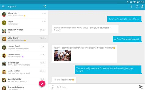 best texting app for android tablet sms texting from tablet sync android apps on play
