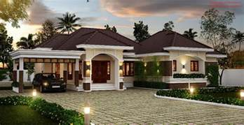 one story four bedroom house plans amazing bungalow in kerala only cost 92 000 to construct