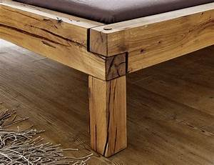 Bett 160x200 Holz : bett bettgestell balkenm bel wildeiche 200x160x85 cm landhausstil haus pinterest bett ~ Watch28wear.com Haus und Dekorationen