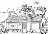 Coloring Kleurplaat Tsunami Hurricane Flood Storm Hongersnood India Pages Printable Edupics sketch template