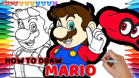 How To Draw Super Mario Odyssey 92 Drawing Coloring