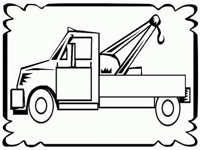 Tow Coloring Truck Pages Trucks Sheets Frame