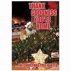 Funny Dog Christmas Card – Merry Christmas & Happy New