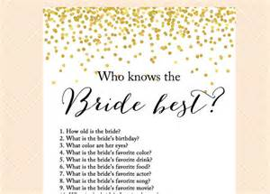 Bridal Shower Trivia Questions Image